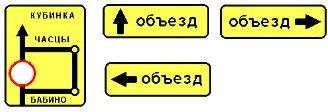направление движения по полосам с запрещающим знаком